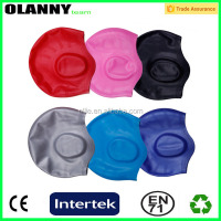 wholesale silk screen printing eco-friendly durable foldable custom silicone swimming cap