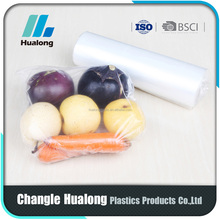 clear pe food plastic bag on roll