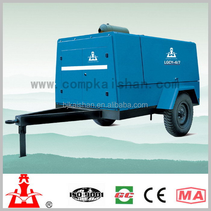 Kaishan LGCY 6-7diesel driven Portable Screw Air Compressor general industrial equipment