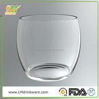 Good quality custom color pink polycarbonate beer glass stemless wine glasses