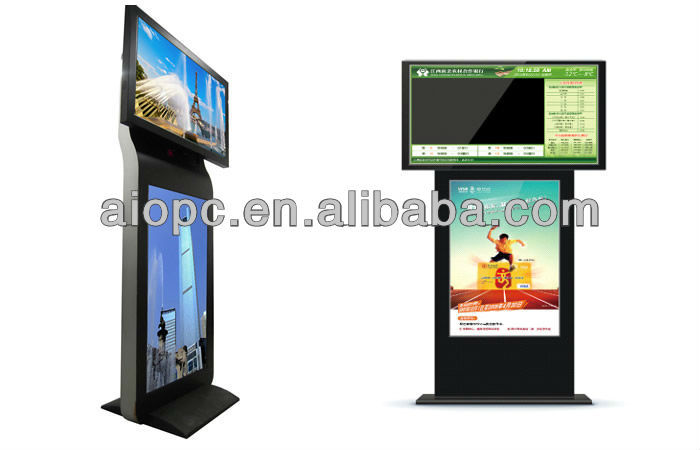 42 inch floor stand android two screen advertising machine