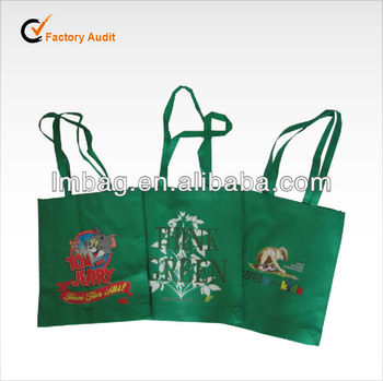 colorful hot transfer printing non woven reusable promotional christmas gift bag
