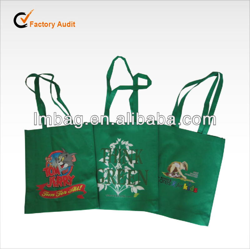 colorful hot transfer printing reusable non woven shopping bag