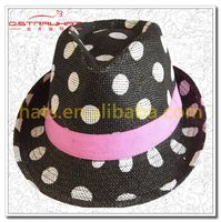 Dotted cowboy straw hat panama hat