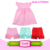 Wholesale Children's Boutique Clothing Pink Pearl Tunic Kids Dress & Icing Ruffle Shorts Outfit Girls Pearl Tunic Clothing Sets