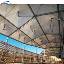 Architecture tensile fabric membrane structure for outdoor canopy