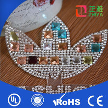 custom style christmas hot fix crystal rhinestone motif design