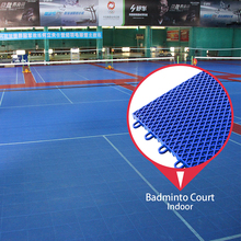 Trade assurance supplier cheap price pp indoor used badminton court flooring