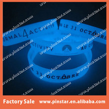 Bulk Cheap Glow In The Dark Luminous Silicone Wristband Rubber Wrist Band