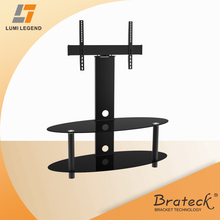 2014 New Economy Tempered Glass and Metal TV Stand