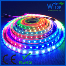 WS2812B ip68 Waterproof Digital rgb pxiel LED Strip smd5050 60leds/m IC Build-in