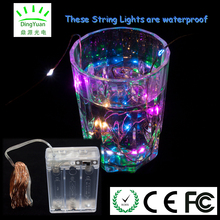 Best quality promotional battery box 4 multicolor 5m 50L micro mini led lights on copper wire for home fairy moods decoration