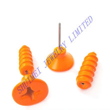 Realistic Screw Nail Shaped Fake Guage Ear Plug Expander Stretcher Faux Earring Piercing Body Jewelry