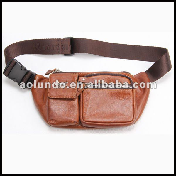 Wholesale leather belt pocket leather cell phone wallet