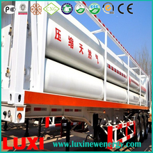 Mobile cng jumbo tube container skid 25Mpa cng tube trailer gas fuel tanks , vehicle used cng cylinder