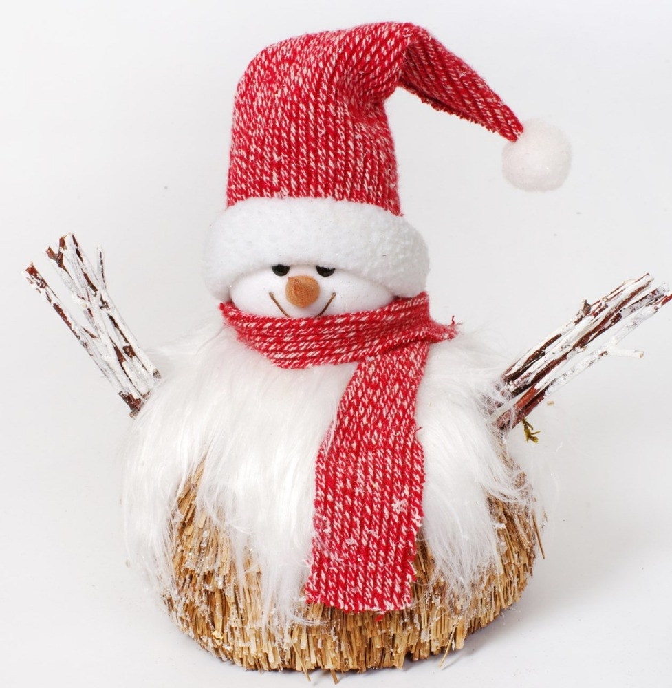 2018 most popular handmade crafts natural wood snowman christmas Decoration