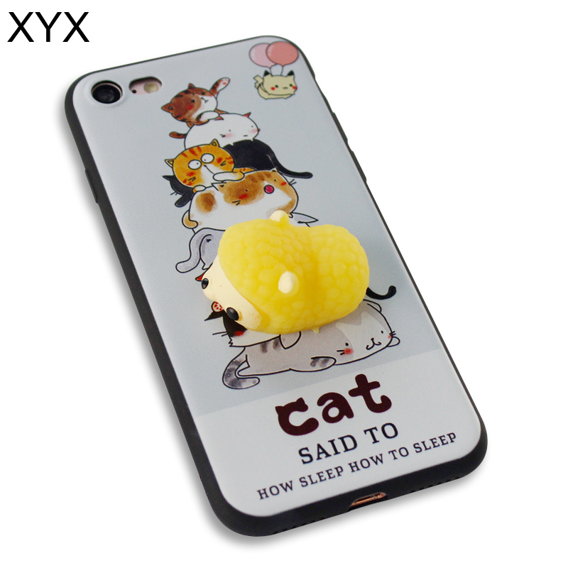 Wide selection 3D cute silicon squishy phone case cover for Samsung j710 hot 2017