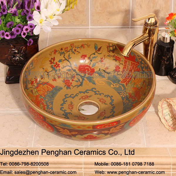 Factory direct high quality artistic ceramic basin sink for table top