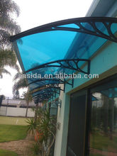 Durable Polycarbonate door awning/Polycarbonate transparent canopy