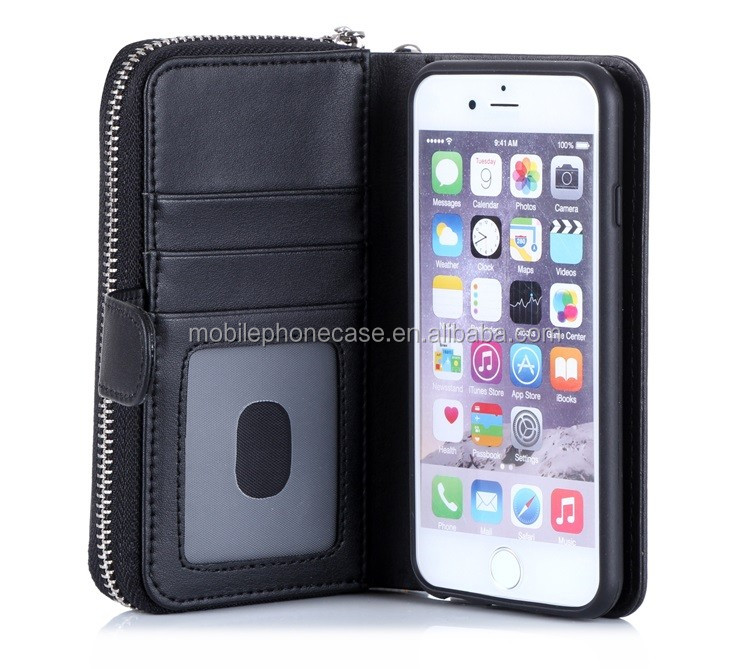 New arrival European style wallet & phone case for iphone 6