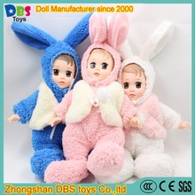 (YW-XR170101) Wholesale pink blue white stuffing sleeping baby doll <strong>plush</strong>