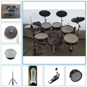 6-pieces electronic digital drum kit, stage electronic drum kit, electric drum set China