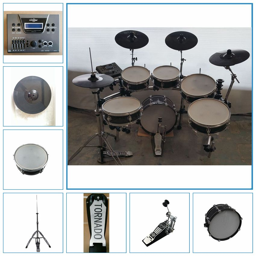 6-pieces electronic digital drum set, stage electronic drum kit, electric drum set China