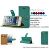 High Quality Wallet Leather Cover Case For iPhone 5SE Case, Mobile Phone Case For iPhone SE, Mint Green