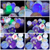 inflatable led balloon, inflatable light earth ,lighted outdoor balloon