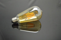 Antique Tungsten Bulb ST64 Amber Color Edison vintage Light Bulb 220V Vintage E27 80W Vertical Decorative Filament Bulbs