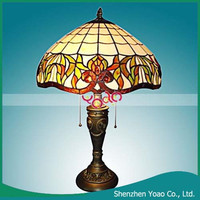 Fancy Antique Tiffany table Metal and Electroplated Lamp