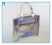 mentallic sliver carry shopping bag non woven bag