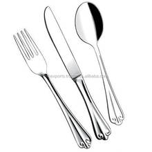 Stainless Steel Table Cutlery set embossed design Mirror poished