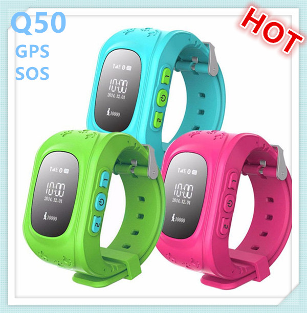 Hot product MTK6260 android gps kids security tracker q50 baby smart watch with sos,gps,pedometer