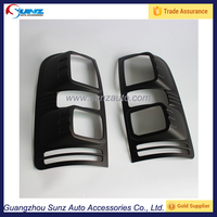 For chevrolet colorado pickup 2012 auto matt blcak protective tail lamp cover and shades