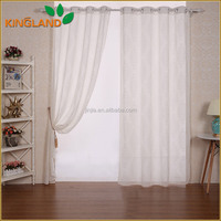Fancy colored polyester cotton jacquard sheer window curtains