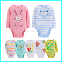 Wholesale Uk newborn fashionable pretty baby romper 100% cotton infant clothes