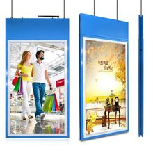 Lcd Screen Double Sided Advertising Hanging Crystal Window Display Lcd Light Box