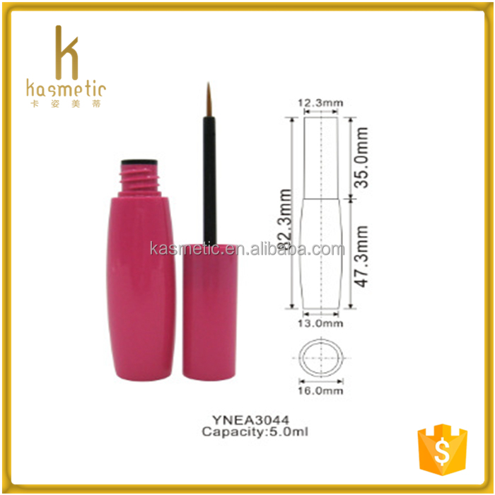 Rose red sexy girl eyeliner container tube packaging