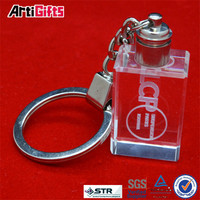 Factory direct sale cheap crystal globe keychain
