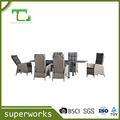BSCI factory modern outdoor dining chairs rattan chair outdoor furniture