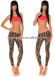 Wholesale Fashion new arrival ladies sexy tight stretch tattoo print leggings