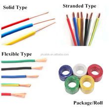 1.5 mm 2.5 mm 4 6 sq mm Single core PVC coated copper electric cable wire