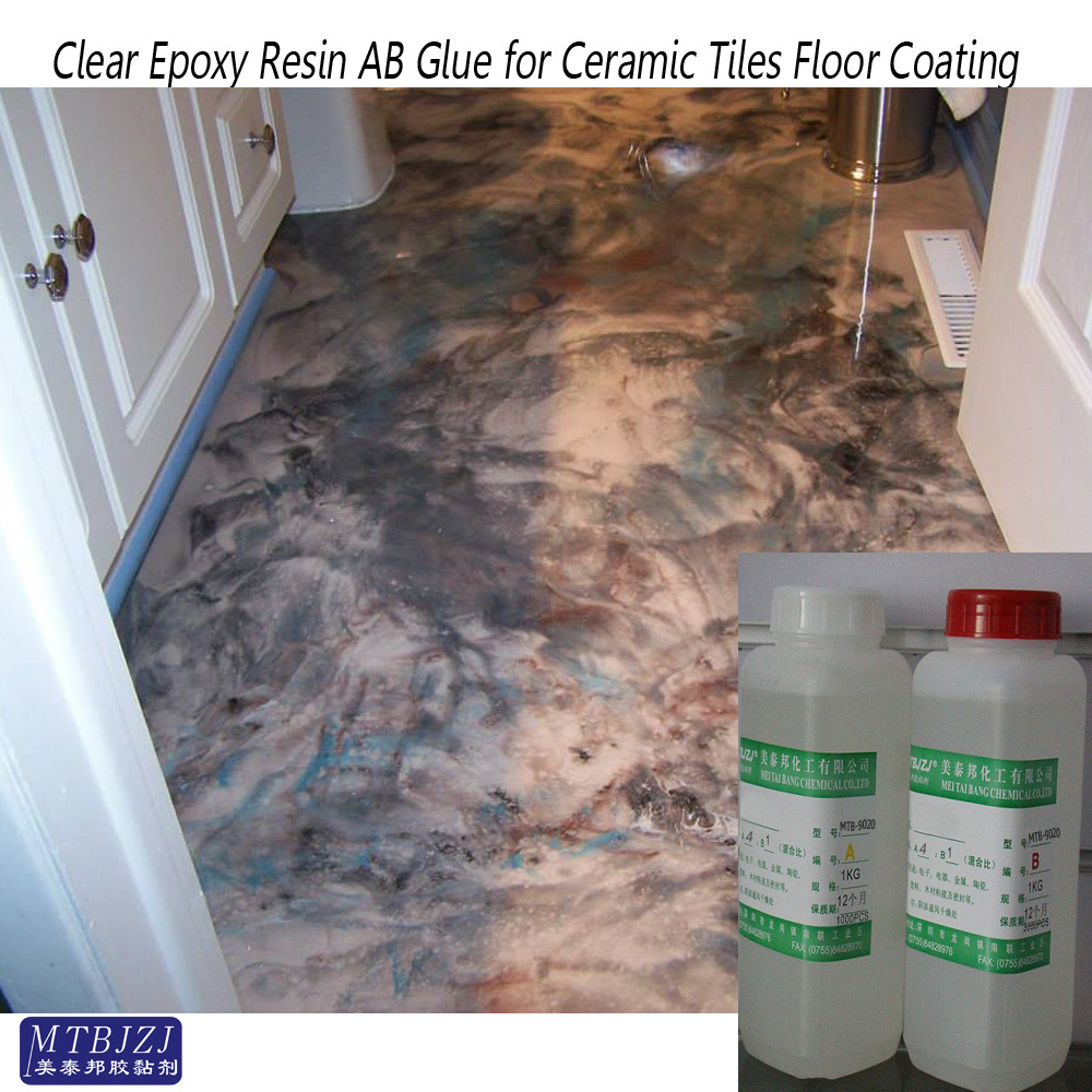 With good transparency, Excellent surface gloss Epoxy Resin Coating and Paint Glue for Marble and Ceramic Tiles