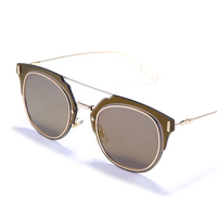Hot Sale Bright Frame Brand Mirrored Fashion Sunglasses For Women And Man