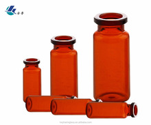 Tubular round straight wall glass vial with cork stopper lab used clear glass test tubes empty glass cork