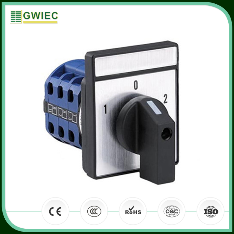 GWIEC China Supplier LW26 Series 20A 1-0-2 3P Electrical Universal Changeover Selector Switch