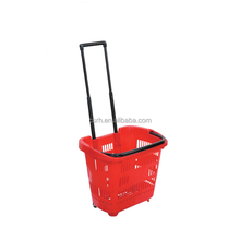RH-BPR31 31L Rolling Basket With Wheels Collapsible Shopping Basket