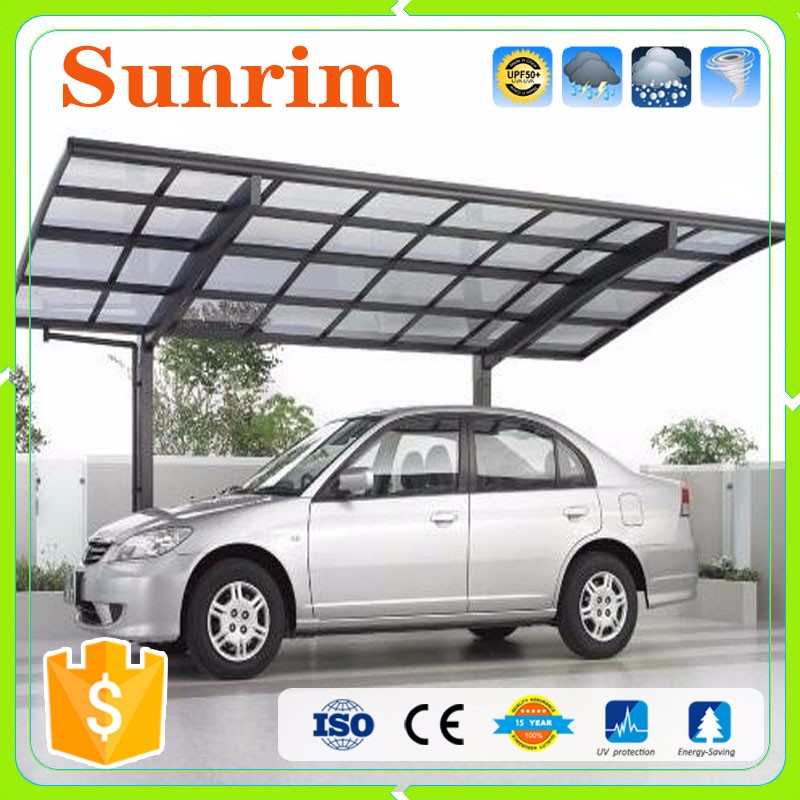 Custom size color metal aluminum sun shelter car port