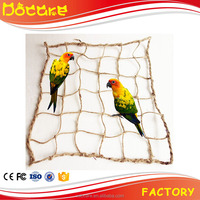 Bird Toys Climbing Net Nature Handmade, Hot Sale Bird Toys with wooden & plastic bead